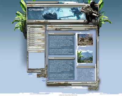 Crysis Website Template