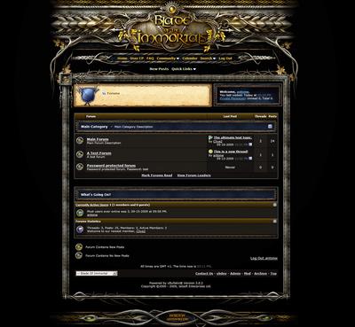 Fantasy forum skin vB