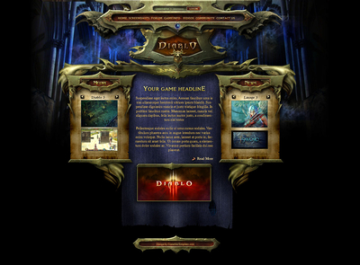 Diablo Interface Template