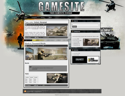 Battlefield Wordpress Theme