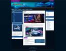 Egamers Wordpress Theme Blue