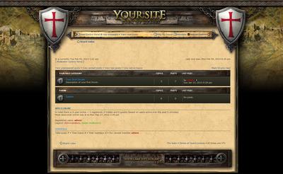 Templar Knights Forum Skin