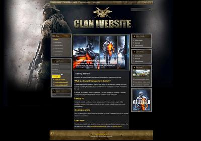 Gaming Clan Joomla Template