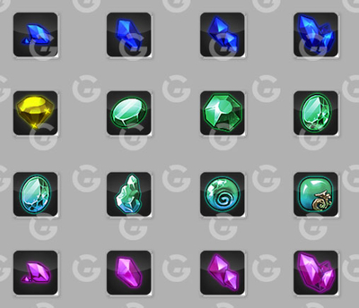 Basic Gems Game Icons