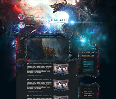 Dragon Game Web Template