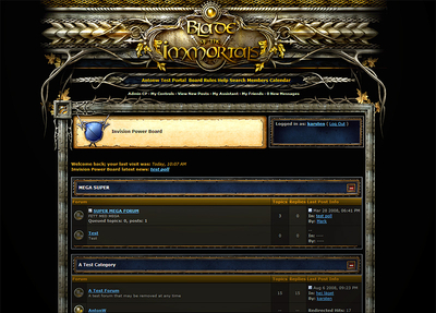 Fantasy forum skin