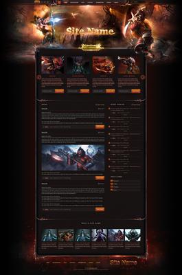 Dota2 Web Template