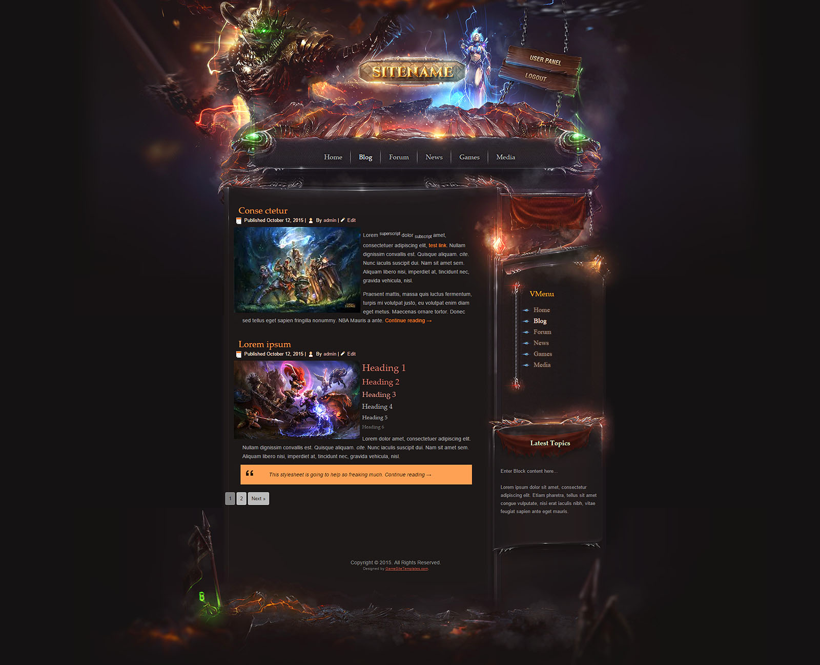 Legion game html template for Game maker templates download