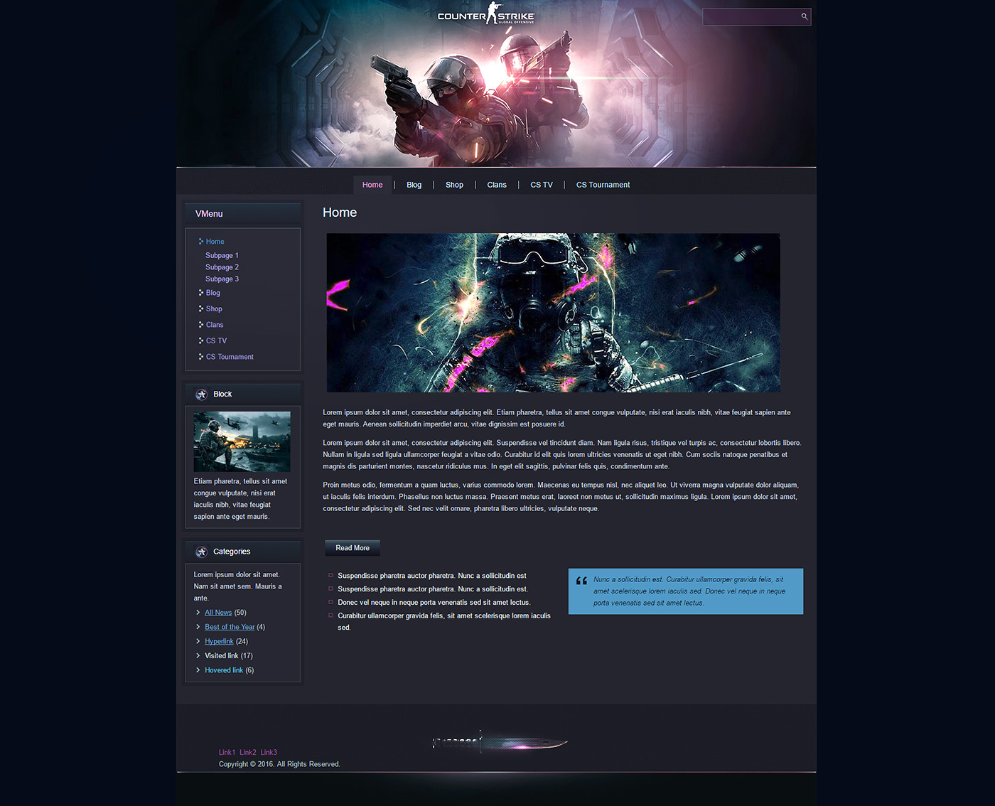 csgo html template