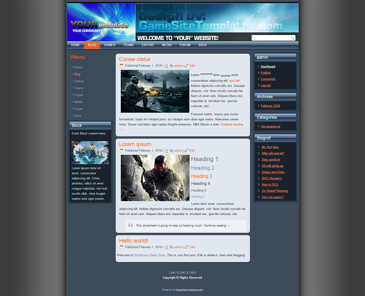 Clan Free Site Template Web: full version free software ...