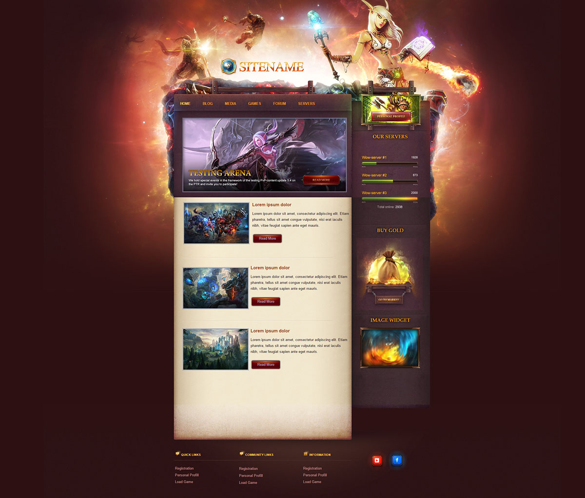 Game Portal Joomla Template