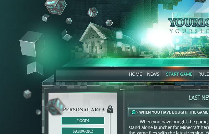 minecraft website template. Black Bedroom Furniture Sets. Home Design Ideas