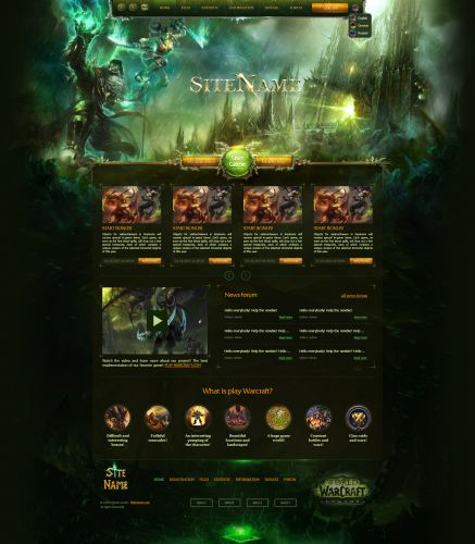 Azgalor Game Web Template