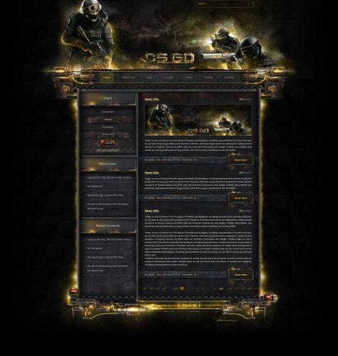 CS GO Web Template