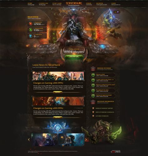 World of Warcraft Web Template