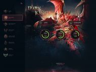 Dark King Game Web Template