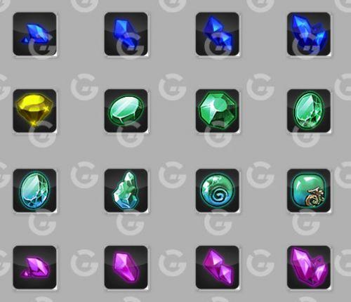 Basic Gems Game Icons