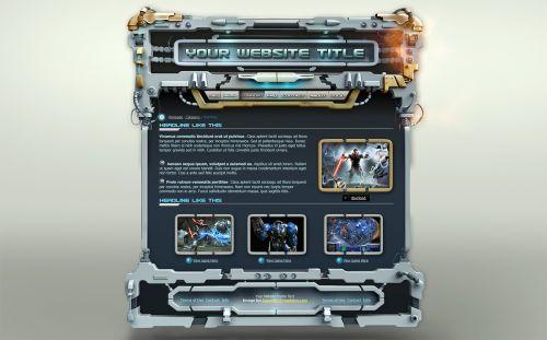 StarWars GameSite Template