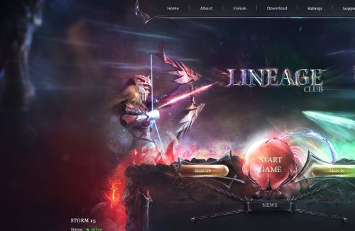Warriors Storm PSD Web Template