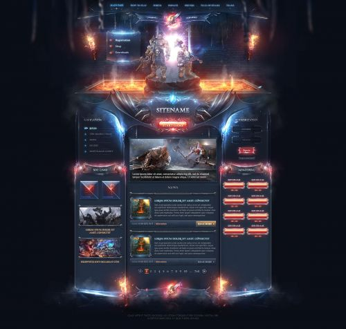 Catacomb Fantasy Web Design