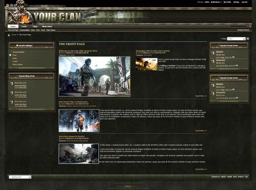 Clan vBulletin 4 Forum Skin