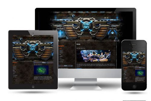 CS Go Iron Joomla Template