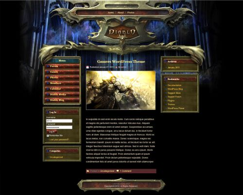 Darkness WP Theme