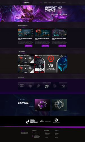 EsportTeams Wordpress Theme