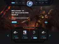 Gaming Cafe Website Template