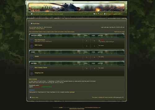 Warzone Green Skin phpBB