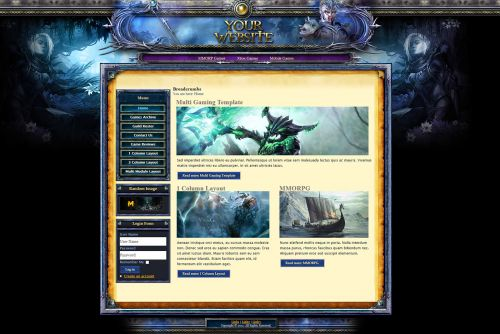 Guild War Joomla Template