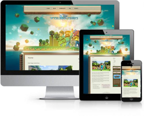 MineCraft Realm Wordpress Theme