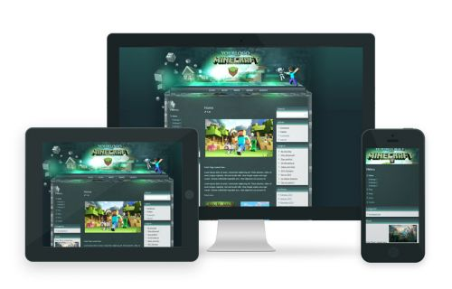 MineCraft Joomla Template