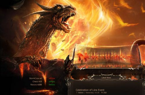 Neverwinter Web Template
