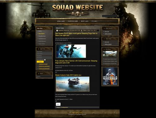 Special Forces Joomla Template