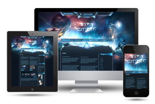 Star Citizen SciFi Game Wordpress Theme
