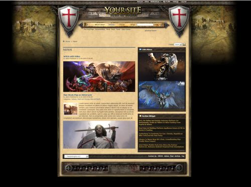 Templar Knights Forum Skin vB