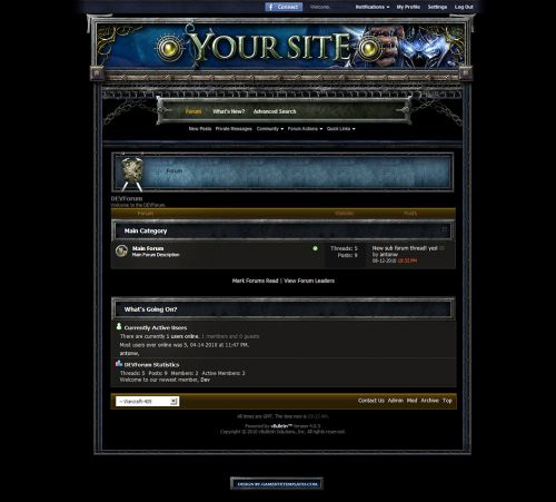 Warcraft Forum Skin V4