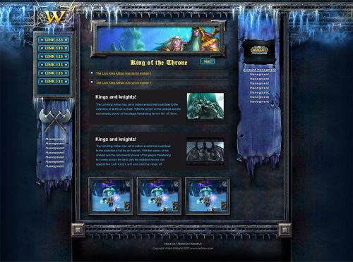 Fantasy Website Design