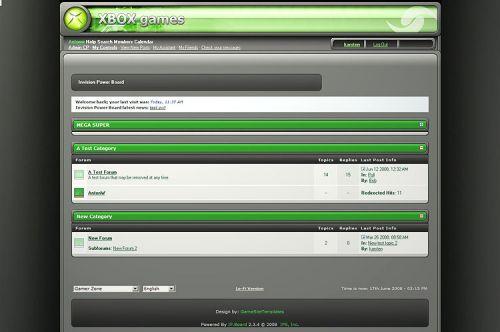GameZone Xbox forum skin