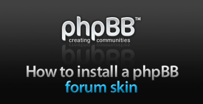 How to install phpBB forum skin