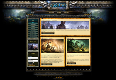 Fantasy Gaming Joomla Template