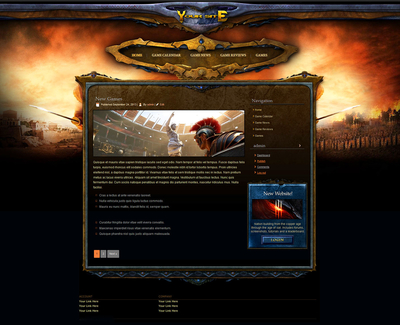 Roman Empire Wordpress Theme