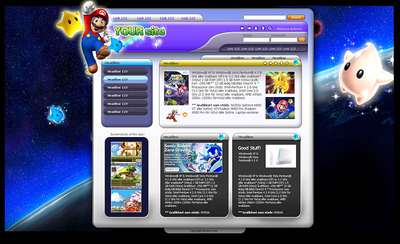 Wii website template