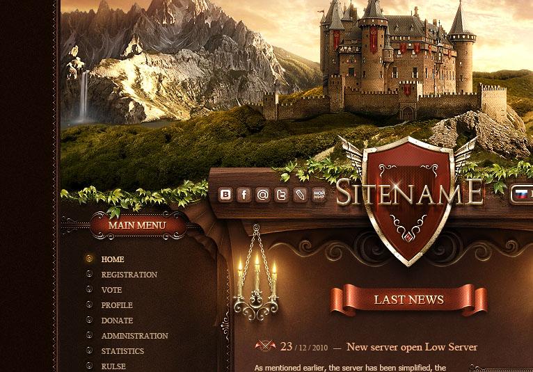 castle land website template
