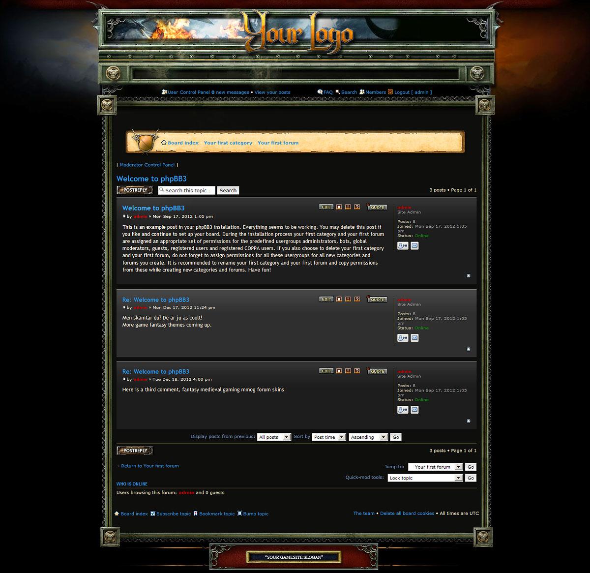 fantasy forum skin phpbb